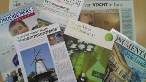 De diversiteit van tijdschriften, kranten, etc. waarin wij vermeld worden.